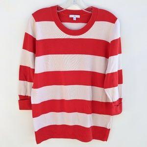GAP stripped 3/4 Sleeve Stripped Sweater, XL